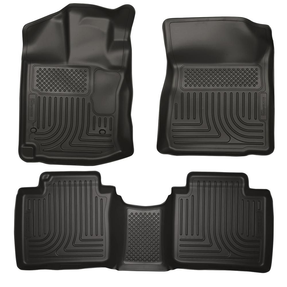 Husky Liners Front 2nd Seat Floor Liners Footwell Coverage Fits 12 14 Venza Car Interior Design Toyota Venza How To Clean Carpet