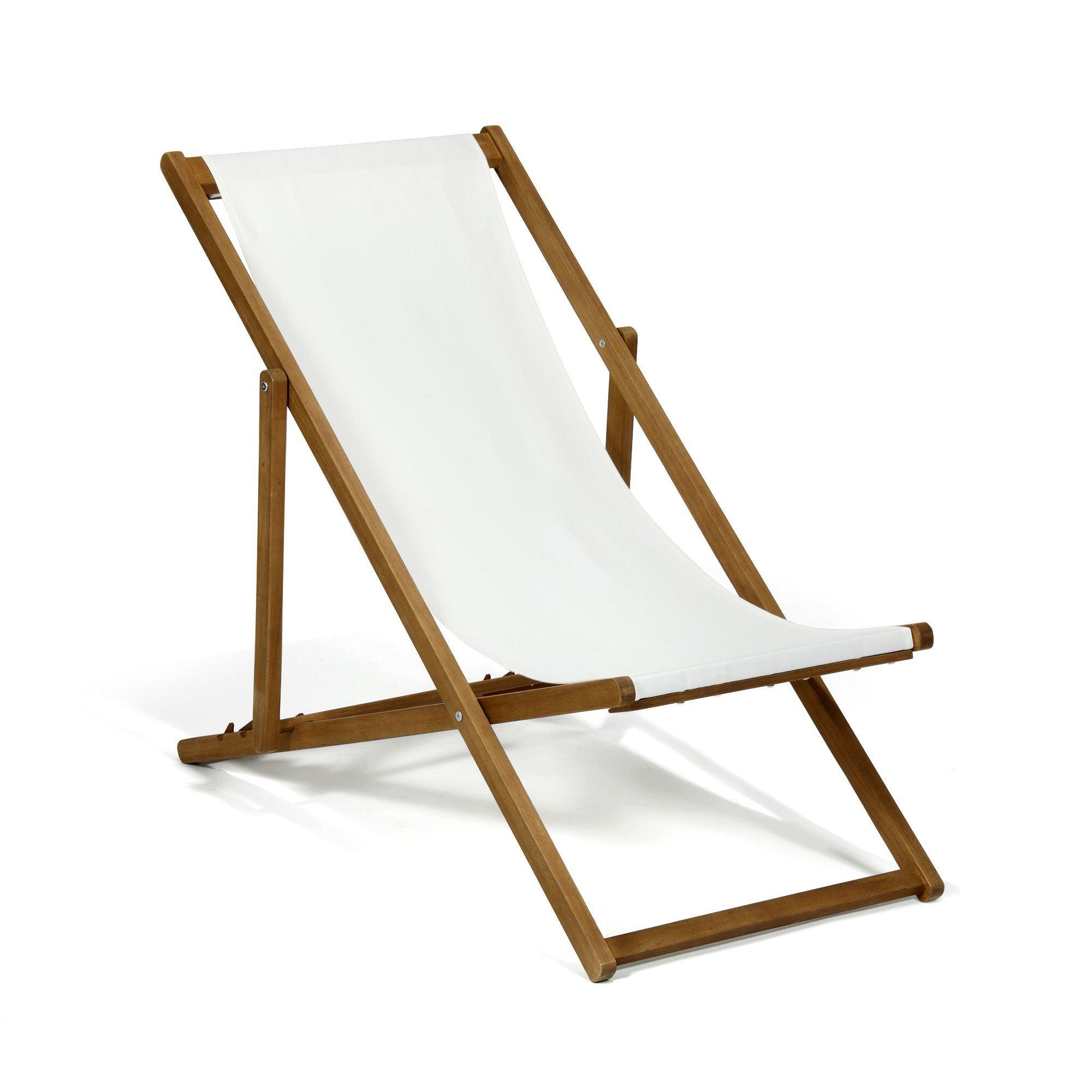 Chaise Longue De Jardin / Chilienne écru Ecru   Udine   Les Bains De Soleil  Et