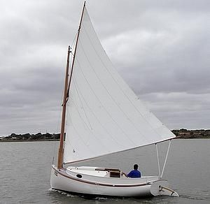Fenwick Williams did some alterations to a Catboat Plan ...