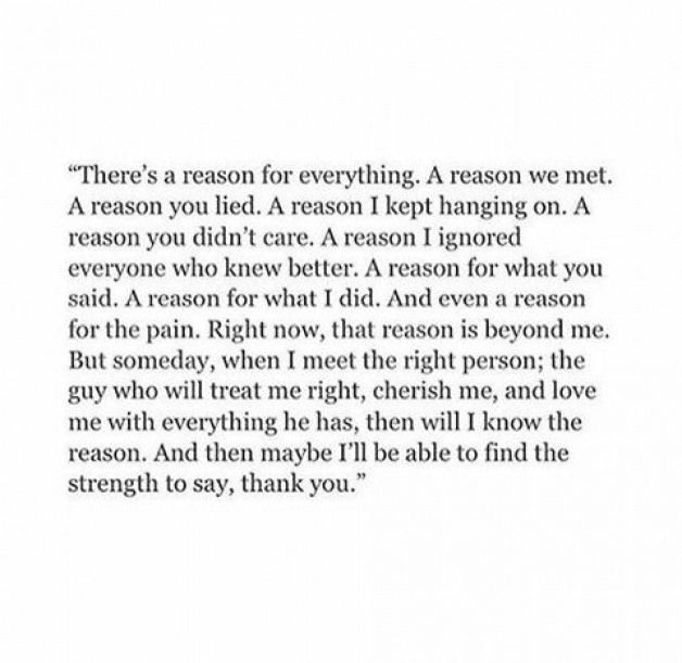 $: Actually, I can say thank you already. Without you I wouldn't have known that I missed being loved. And when all went south,  it taught me my values I didn't want to live without. Every heartbreak makes it stronger.  Thank you.