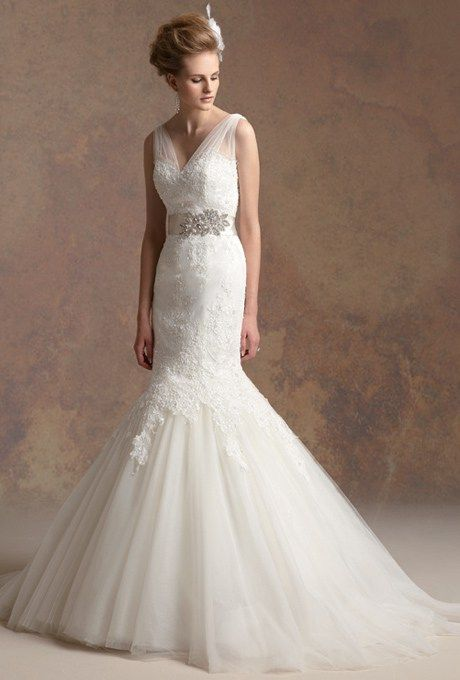 Lacey Mermaid Wedding Gowns For Your Second Time Around Cheap