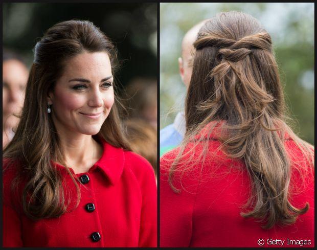 Kate Middleton Ihr Romantischer Halbzopf Zum Nachstylen Frisuren