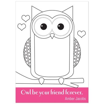 All Eyes on Owl -- Colorable Valentine Cards | Valentine\'s Day ...