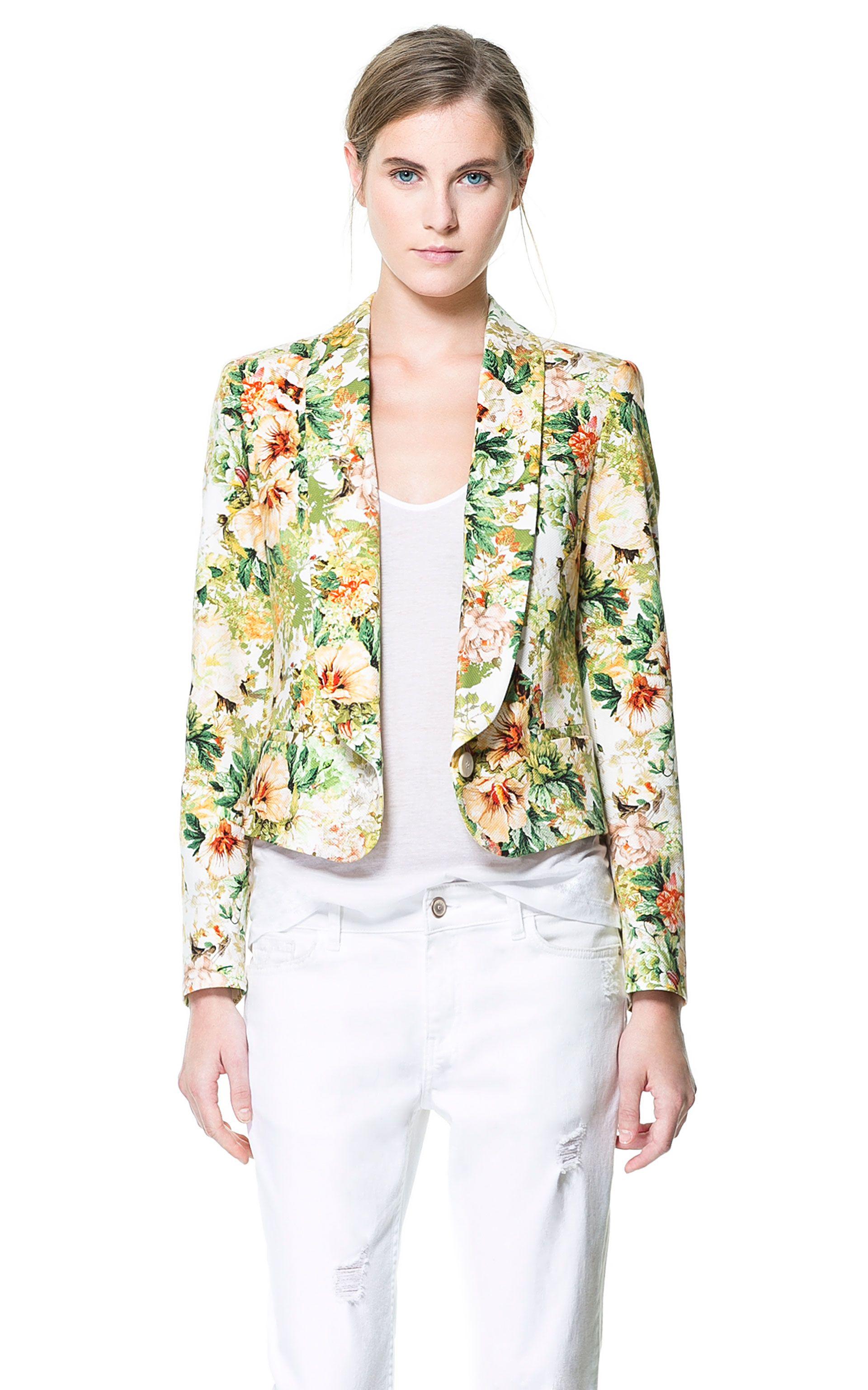 Fashion Flower Jaket Anak Hello Kitty Turkis Daftar Update Harga Hk Relax Merah Source 30p Floral Print Blazer Blazers