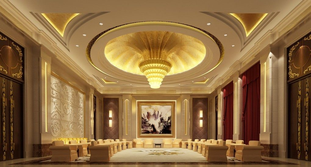 Chinese style luxury vip room ceilings pinterest for Luxury hotel room interior design