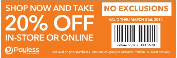 image about Payless Printable Coupon referred to as Payless Printable Coupon Printable Discount codes Free of charge