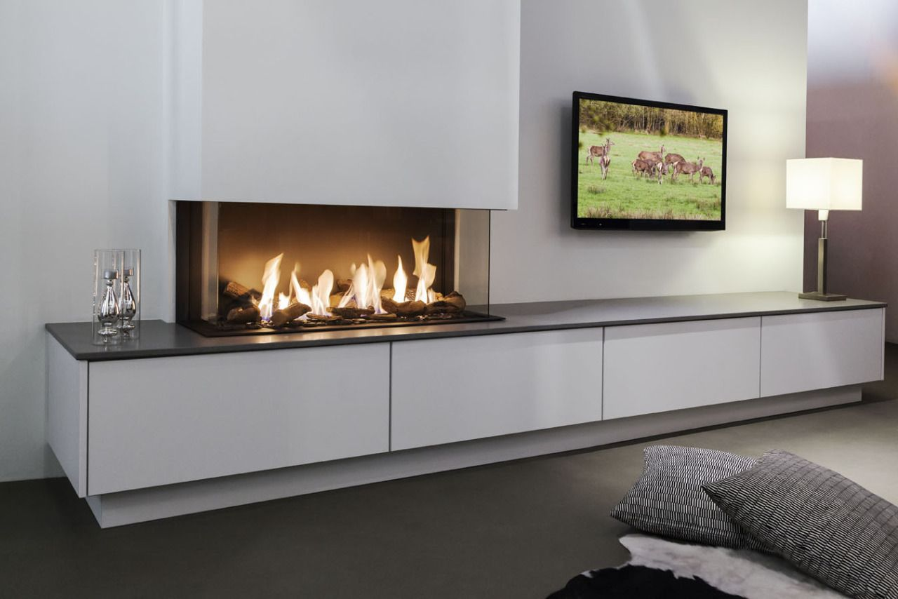 Hans Kwinten Interieur | tv & fireplace | Pinterest | Wandlampen und ...
