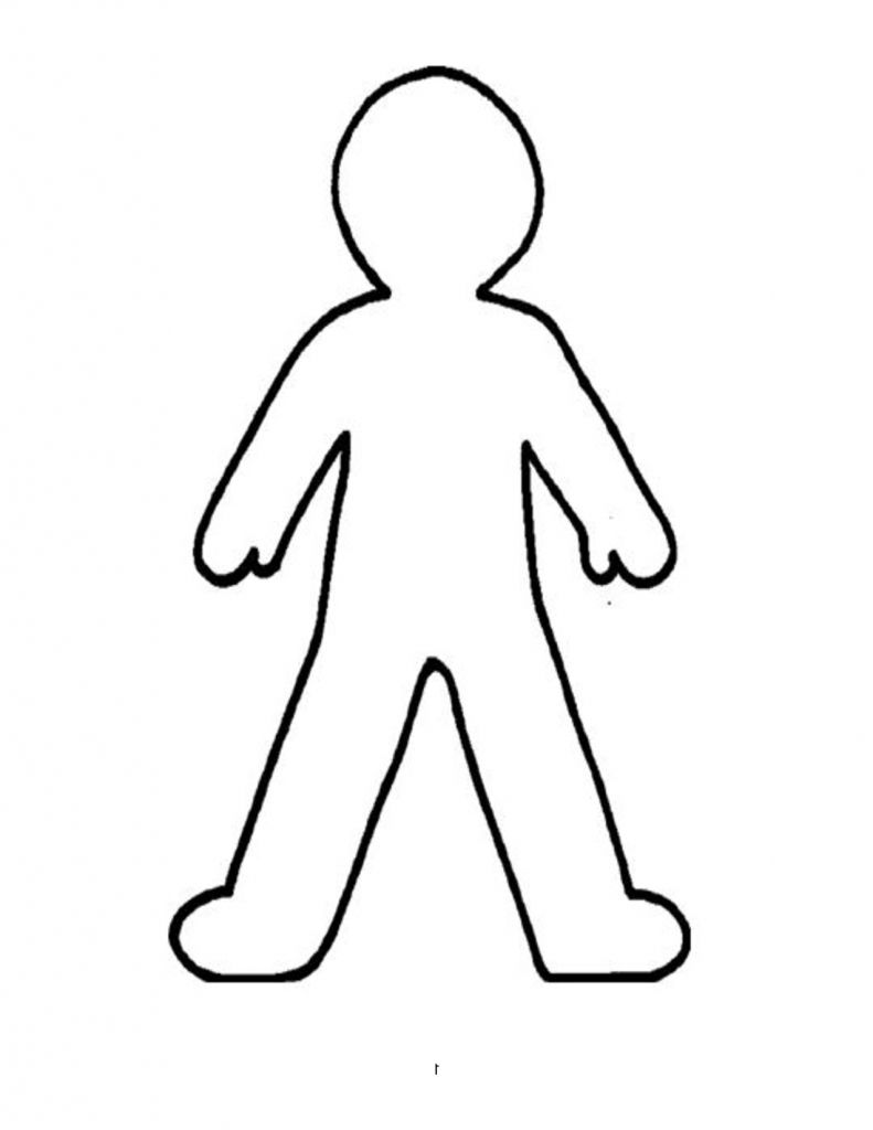 Outline Drawing Of A Person Clipart Best Person Drawing Easy Cartoon Drawings Easy Drawings