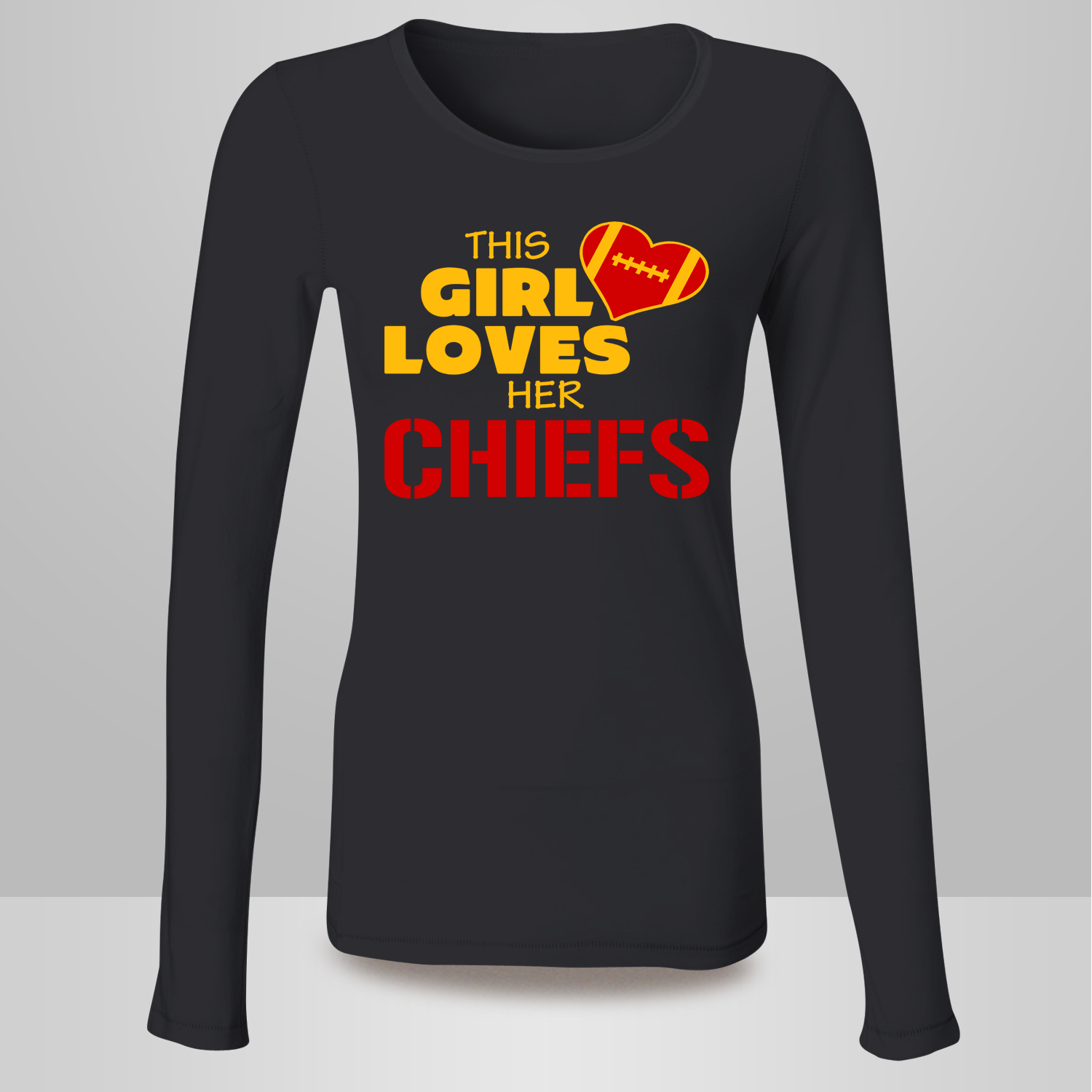 e3830e12 This Girl Loves Her Chiefs Football T Shirt - Kansas City Chiefs ...