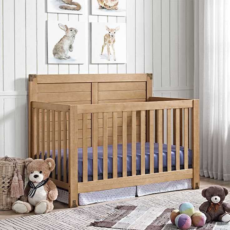 Crafted With A Rustic Natural Finish The Baby Relax Ridgeline 4 In 1 Convertible Crib Features Elements Such As Sturdy Wood Construction