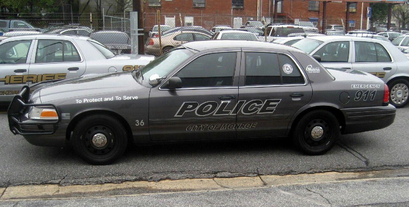 City of Monroe (GA) Police 36 Ford CVPI Slicktop