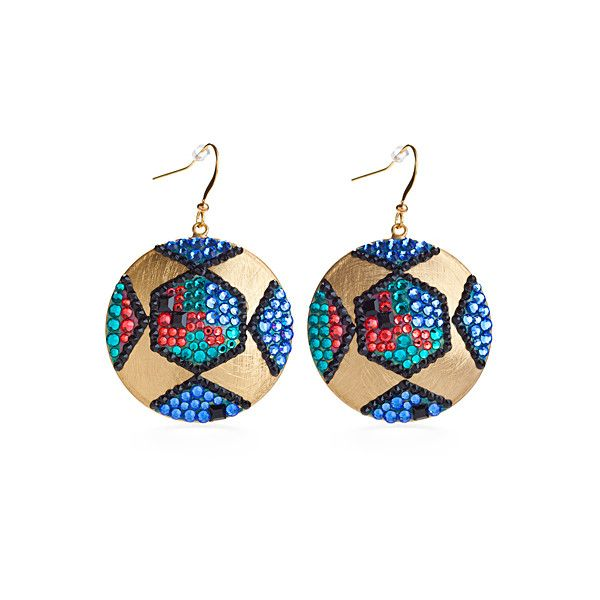 a65f46aba Jimmy Crystal New York Art Deco Earrings ($93) ❤ liked on Polyvore  featuring jewelry, earrings, disc earrings, art deco jewellery, deco jewelry,  jimmy ...