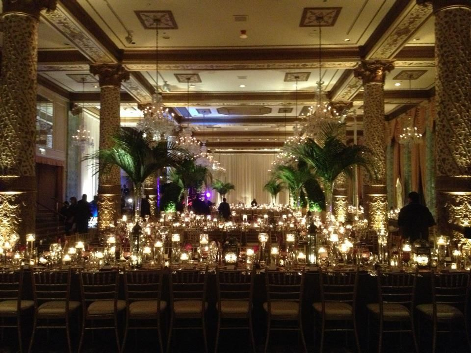 Our indian wedding reception the drake hotel decor for Hotel decor chicago