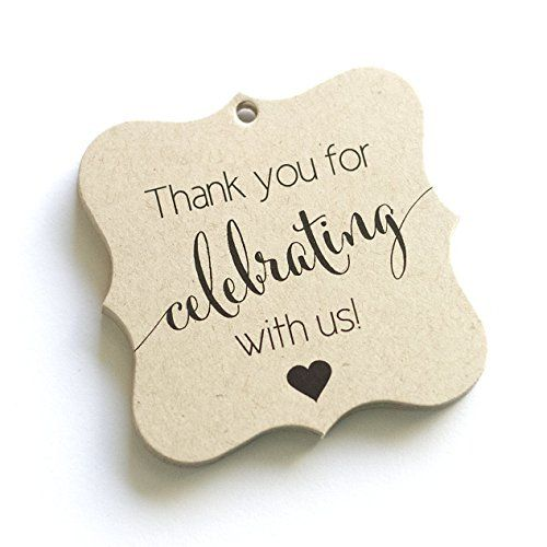 Thank You Favor Tags, Thank You Wedding Tags, Thank you for ...
