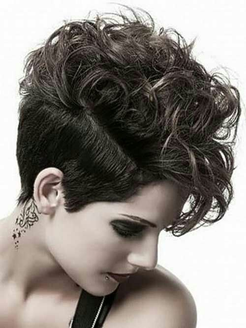 Womens hairstyles short on top long in back