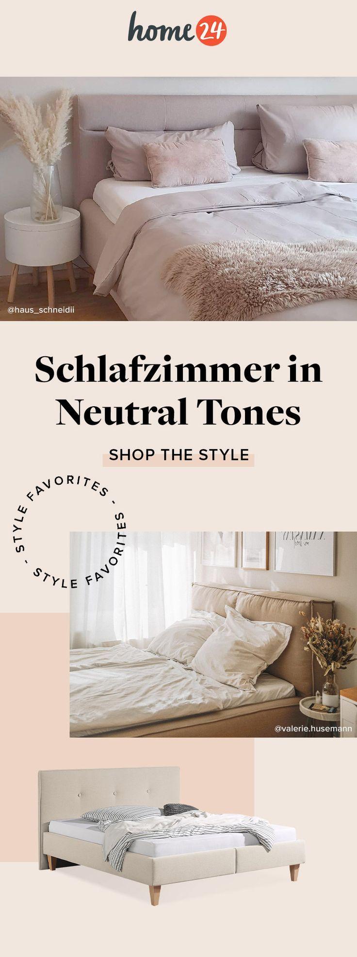 Neutral Tones im Schlafzimmer