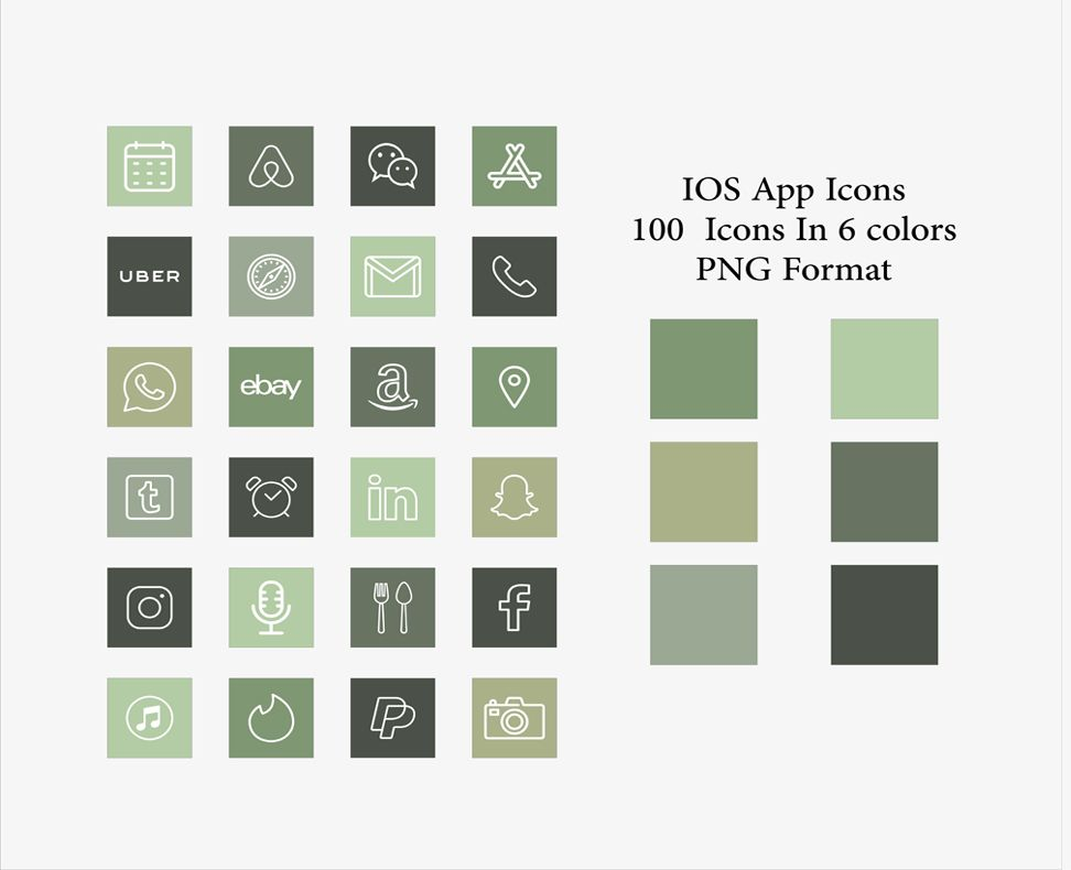13000+ iOS 14 app Icons pack, 100 unique icons in