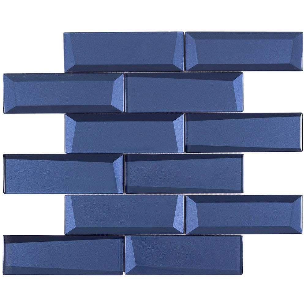 Glass Wall Tile Dimension Ink Blue 2x6 Glass Mosaic Tile Backsplash Kitchen Glass Mosaic Tiles Glass Mosaic Tile Backsplash