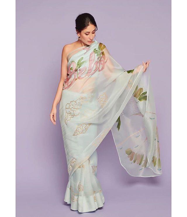 Kareena Kapoor Khan On Instagram For Kapil Sharma Agency Versisentertainment Managed By Nainas89 Poonamdaman Saree Designs Saree Look Organza Saree