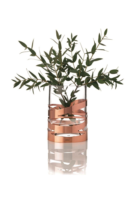 Maison Decor Tin Ceilings: Vase En Verre Et Métal Cuivré - 66€