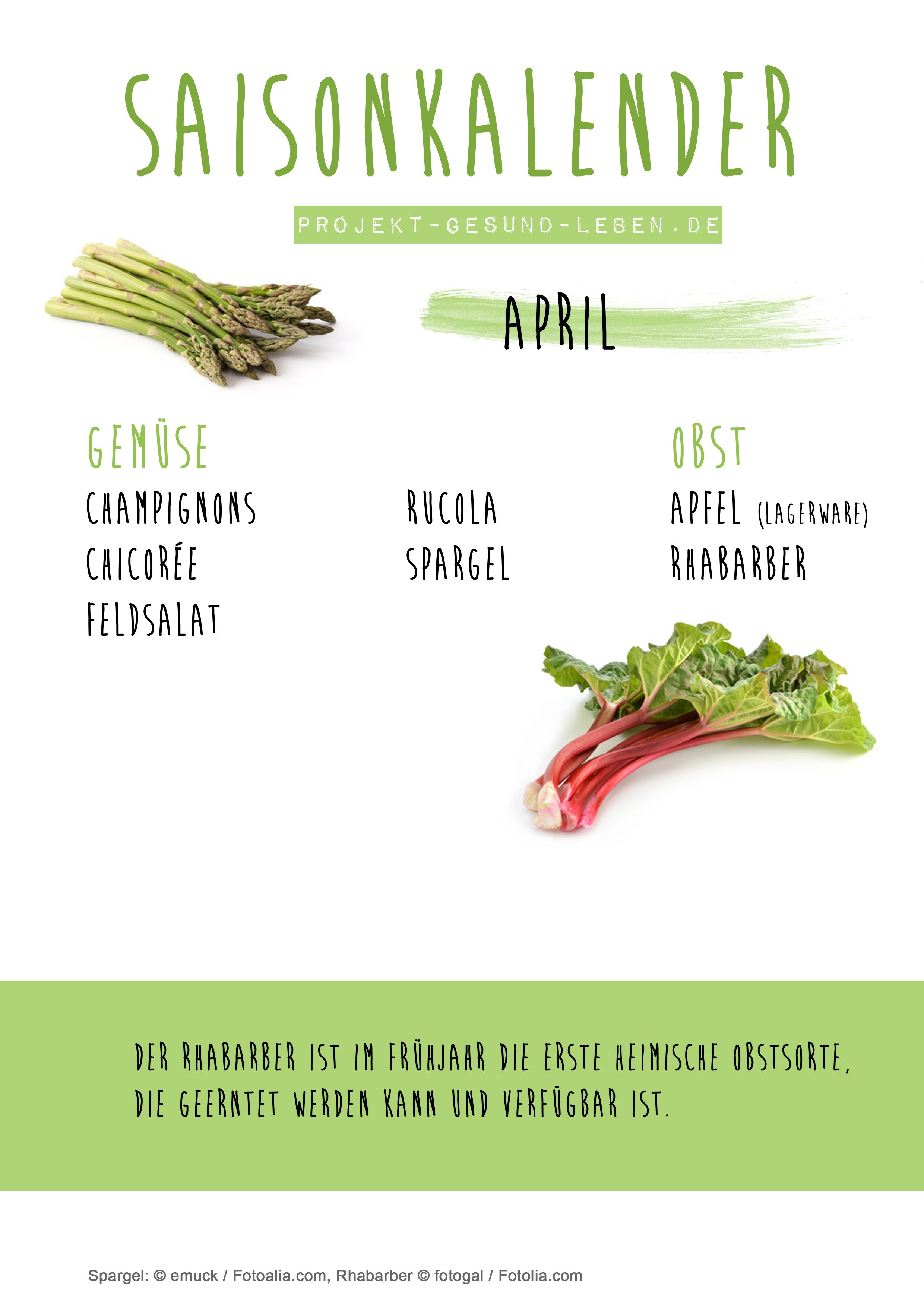 Saisonkalender April #cleaneating