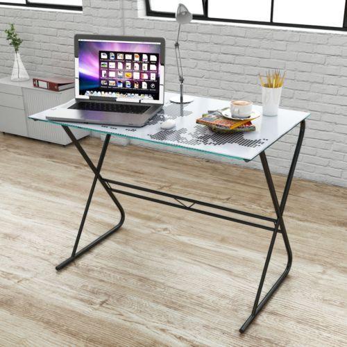 Computertisch design  Design Schreibtisch Computertisch Glas Tisch Bürotisch mit ...