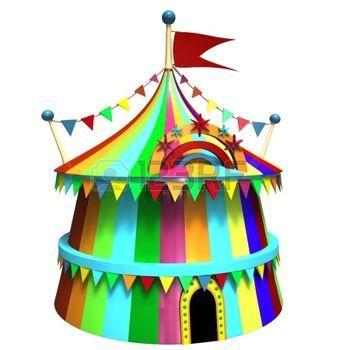 Fete foraine illustration d 39 un chapiteau de cirque color coloriage cirque illustration - Dessin d un chapiteau de cirque ...