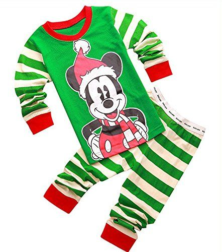 Hotpajama Mickey Mouse Print Cotton Girls Boys Kids Christmas