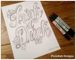 A Fancy Swear Word Colouring Book For Adults The Days When Only Big Will Do