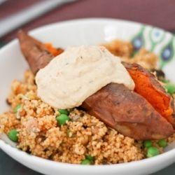 Harissa Couscous & Roasted Sweet Potato