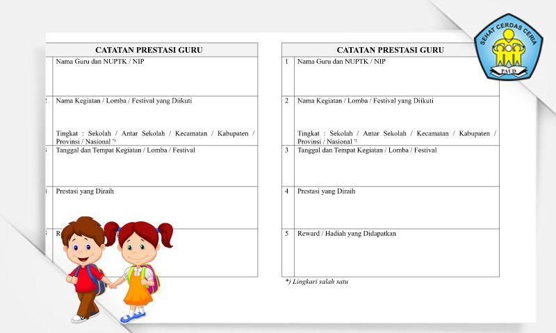 File Pendidikan Download Buku Catatan Prestasi Guru Paud Format Microsoft Word Buku Pendidikan Guru