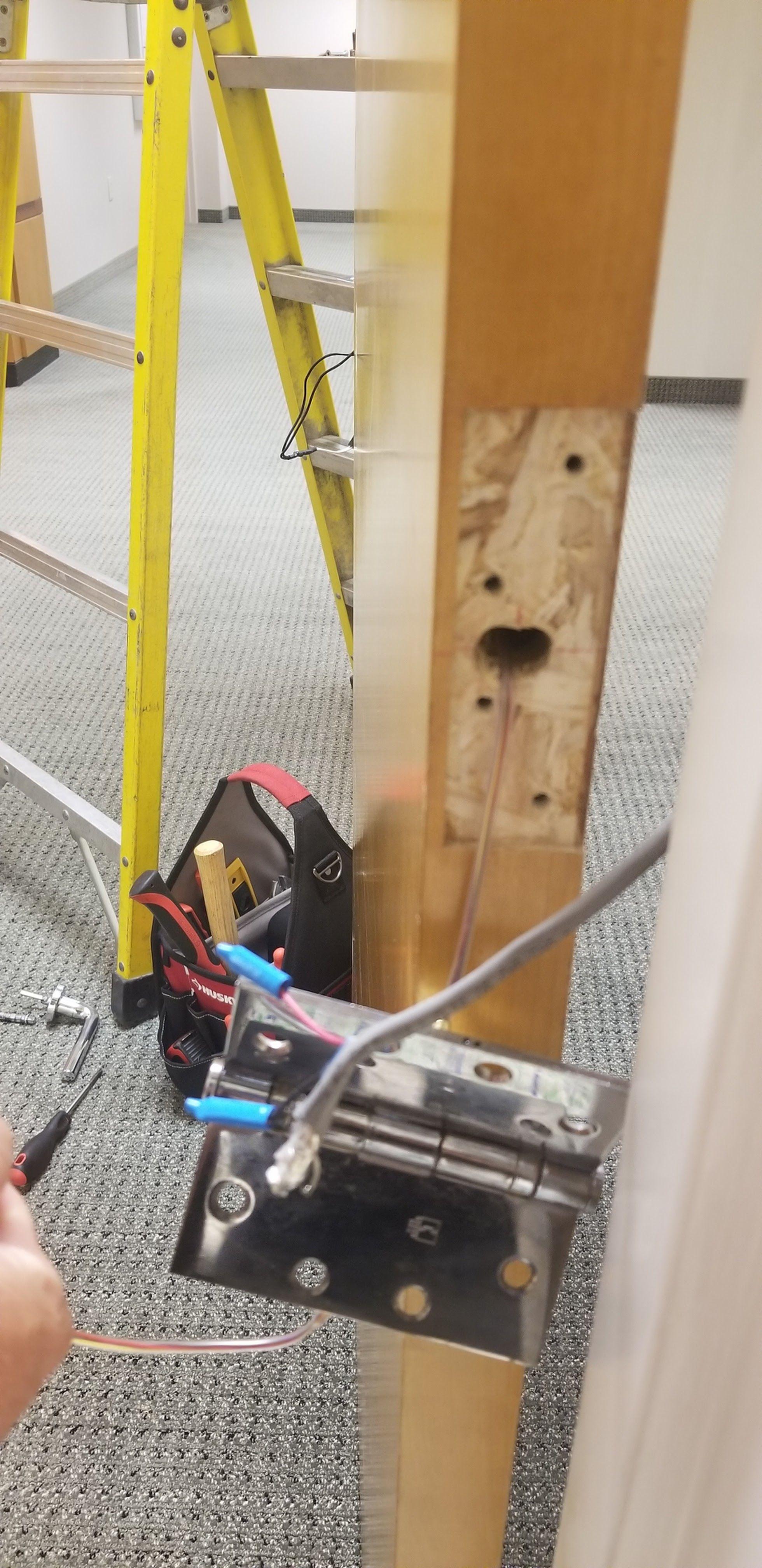 Access control fresh installation Schlage mortise lock