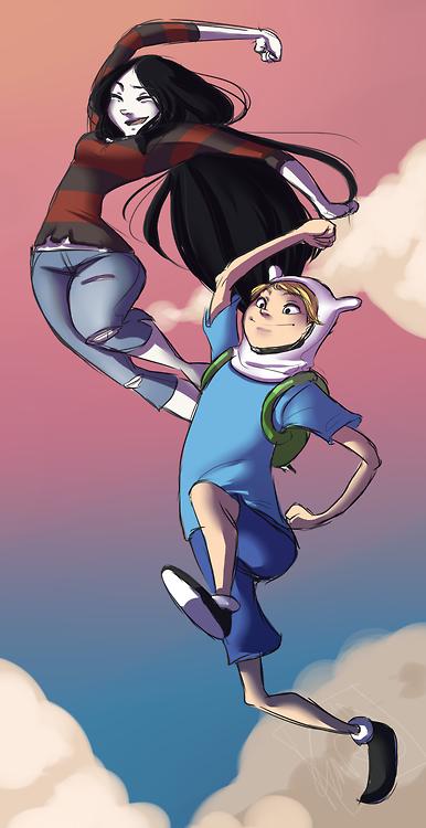 Marceline and Finn Fanart. lovely   Adventure time finn ...