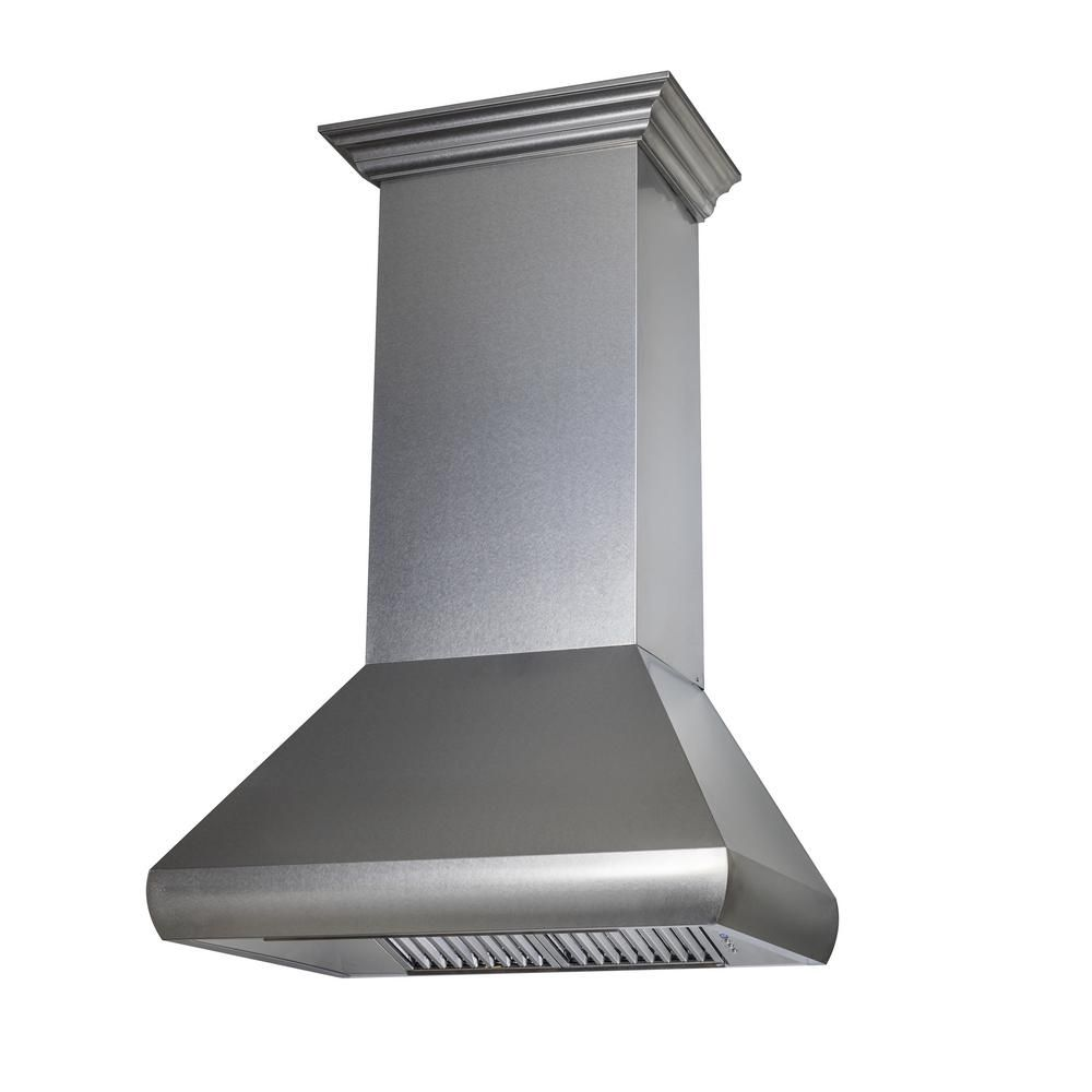 Zline Kitchen And Bath Zline 30 In Wall Mount Range Hood In Snow Finished Stainless Steel 8687s 30 Wall Mount Range Hood Stainless Steel Hood Stainless Range Hood