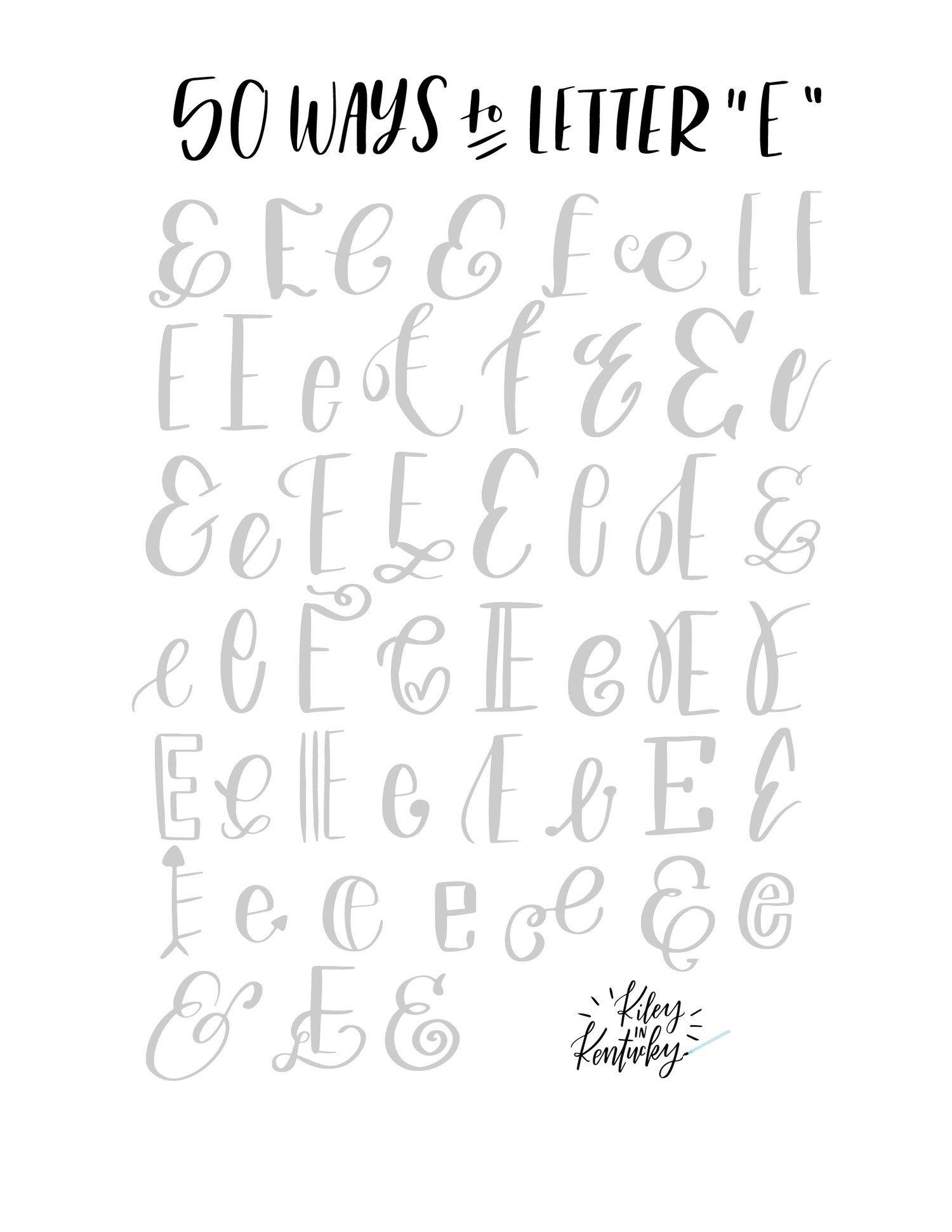 50 Ways to Draw An '