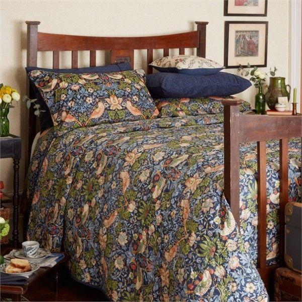 William Morris Co William Morris Strawberry Thief Duvet Cover Elegant Bedding Home Cheap Bed Sheets