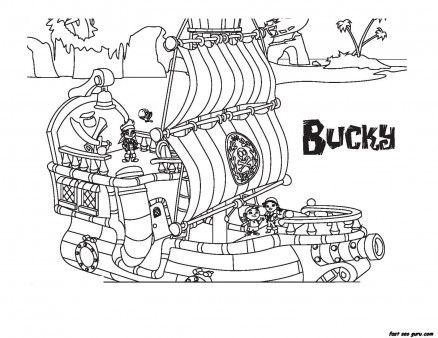 Jake And The Never Land Pirates Bucky Coloring Book Pages Printable Coloring Pages For Pirate Coloring Pages Disney Coloring Pages Coloring Pictures For Kids