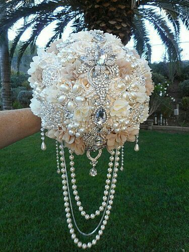8 Pcs Crystal Diamante Pearl Floral Bouquet Wedding Party Bridal Cake Pin Brooch