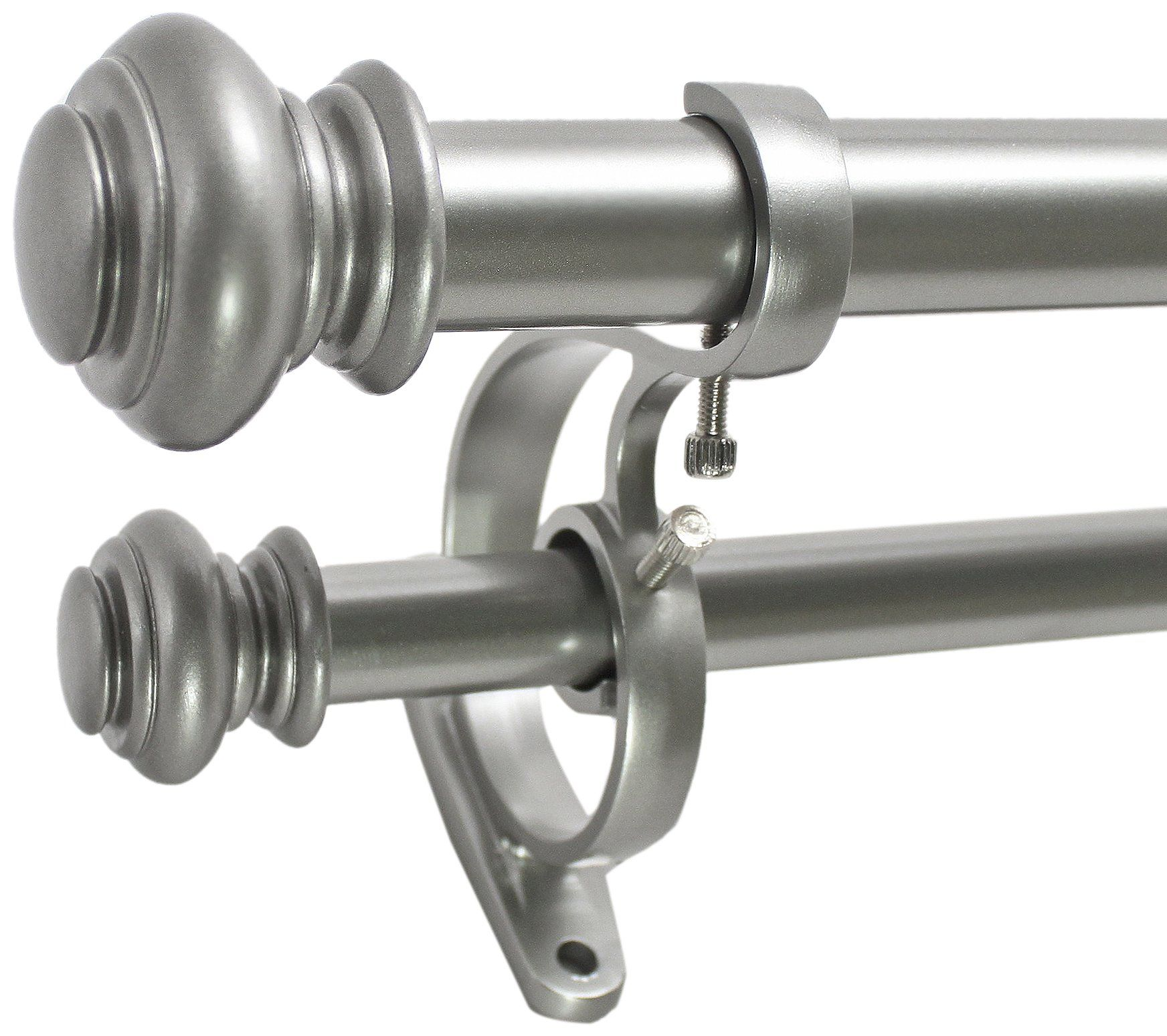 72 144 1 Urn Double Rod Set In Antique Silver Double Rod