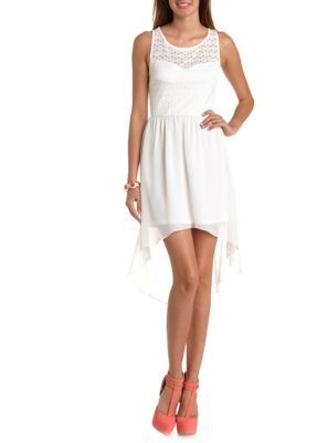Sleeveless Lace Amp Chiffon High Low Dress Junior Bridesmaid