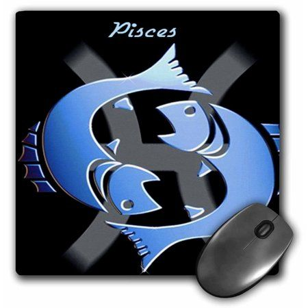 3dRose Pisces Zodiac Sign, Mouse Pad, 8 by 8 inches