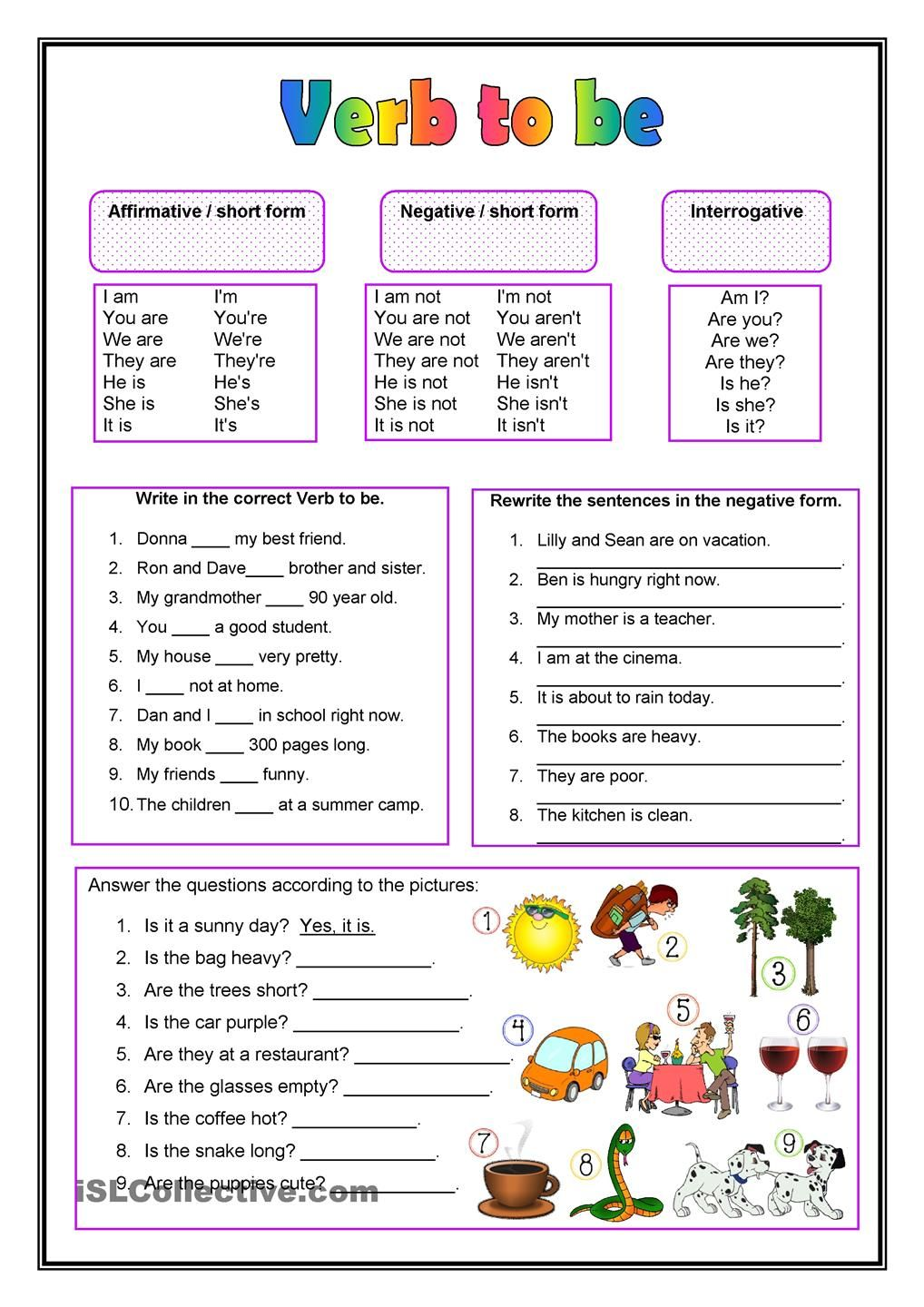 Draw lines to connect the present tense verb with its past tense a great worksheet for getting to know and practicing the verb to be the worksheet includes examples for the correct use of the verb in positive robcynllc Gallery