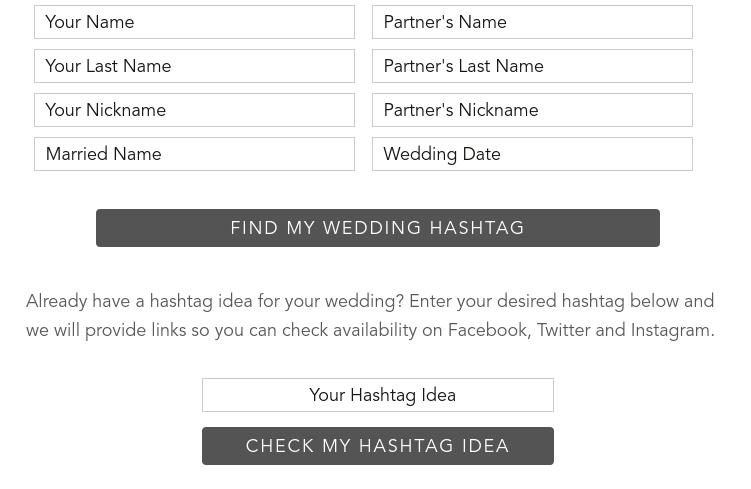 Wedding Hashtag Generator And Ideas 2020 Shutterfly Wedding Hashtag Wedding Hashtag Generator Hashtag Ideas