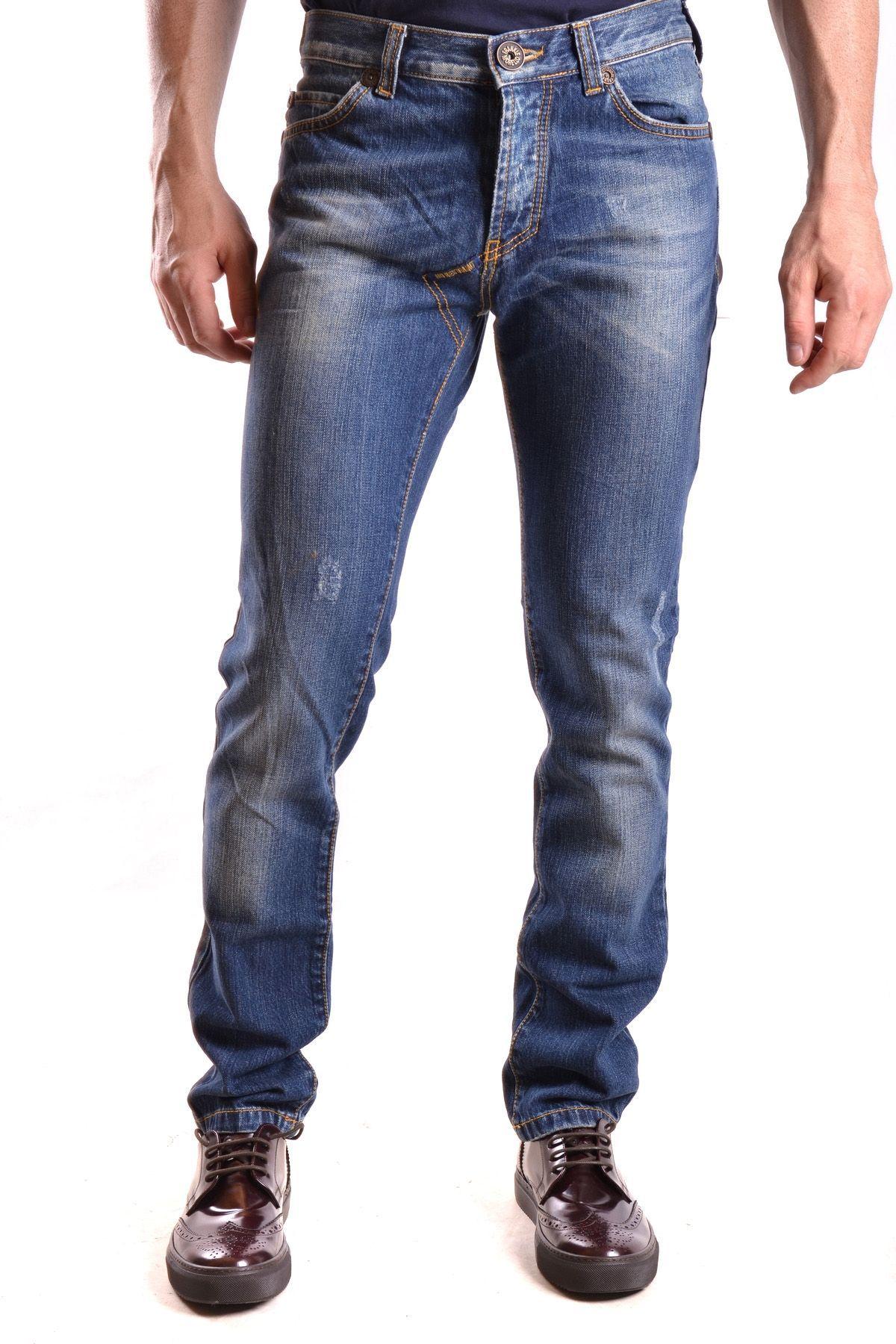 Frankie Morello Mens MCBI24810 Blue Cotton Jeans