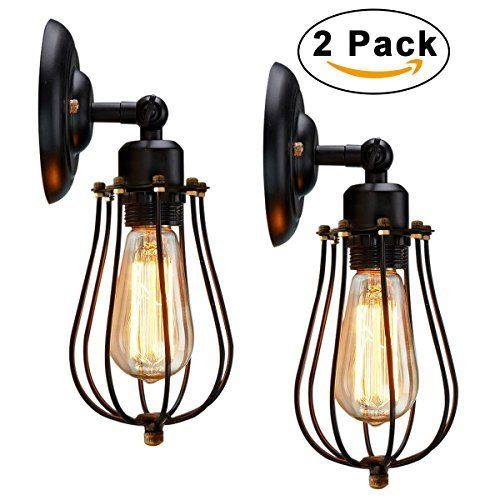 Wire cage wall sconce kingso 2 pack 240 adjustable industrial oil wire cage wall sconce kingso 2 pack 240 adjustable industrial oil rubbed bronze wall light shade mozeypictures Image collections