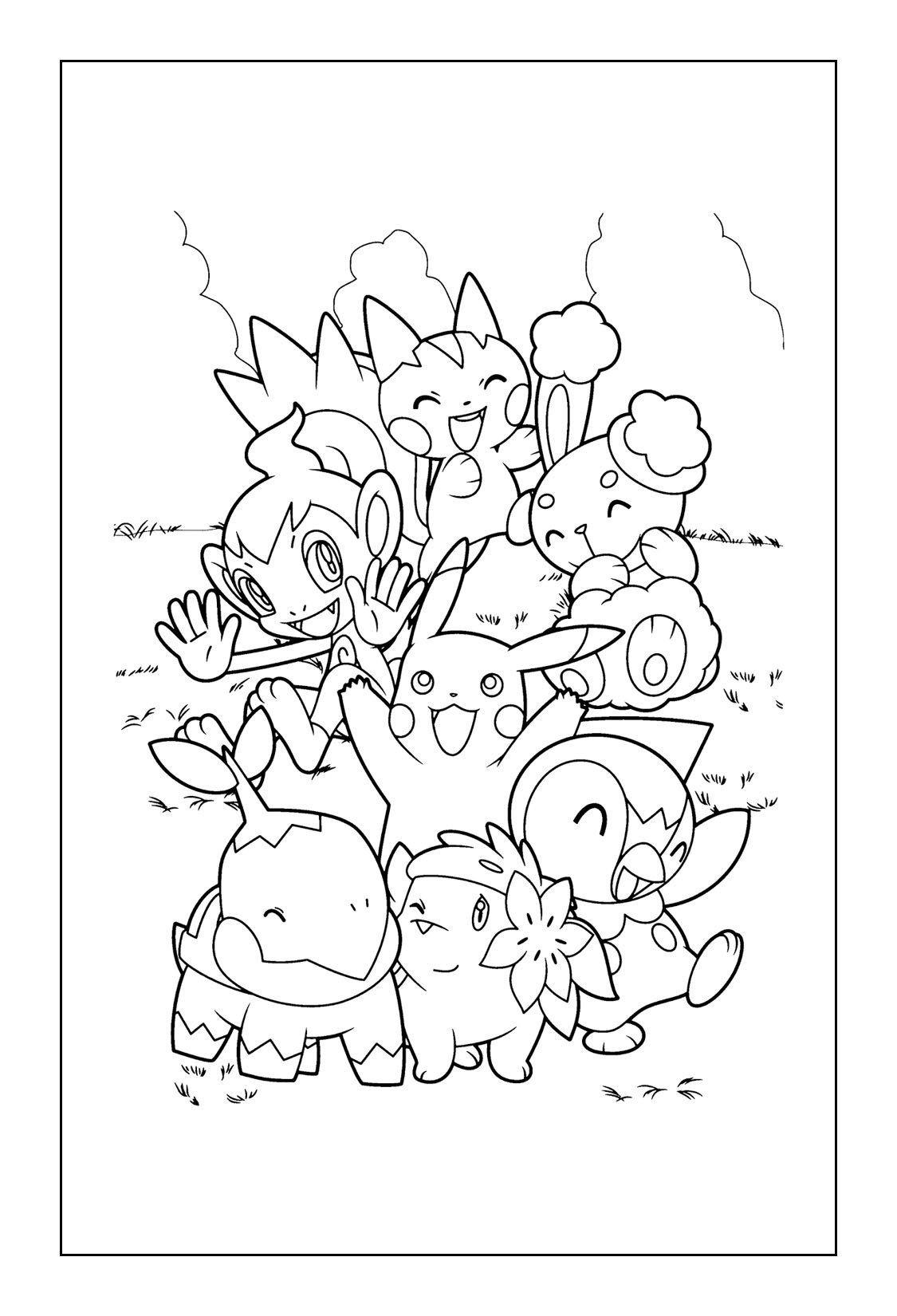 Detective Pikachu Coloring Pages Detective Pikachu
