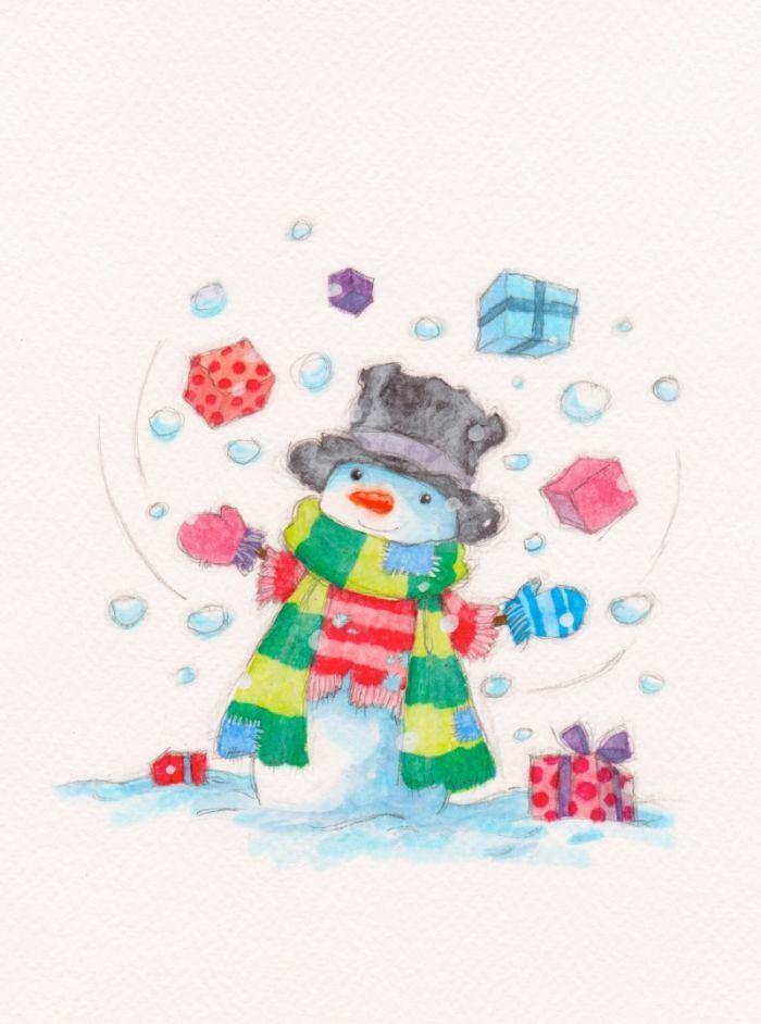 Annabel Spenceley - Juggling Snowman