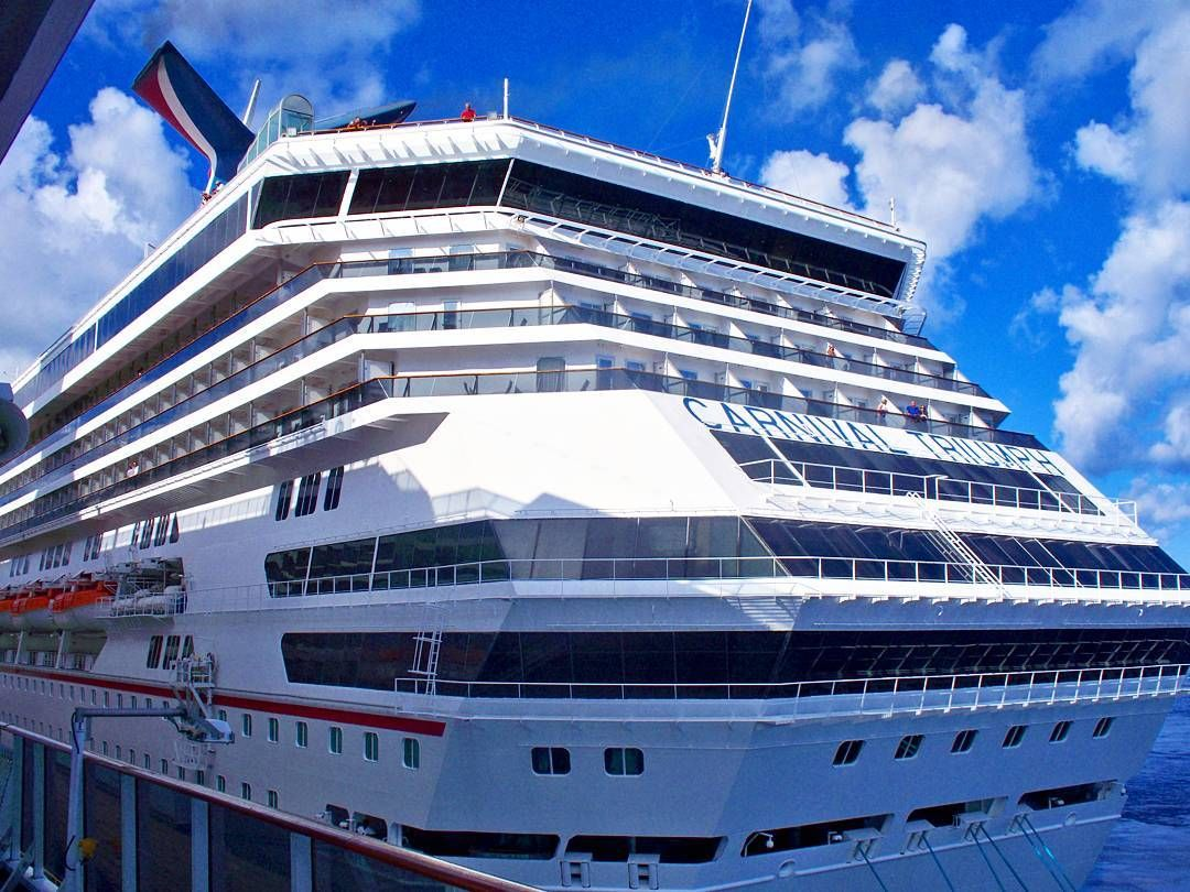 Carnival Legend Docked Next To Carnival Triumph Cruisingdave - Tampa to bahamas