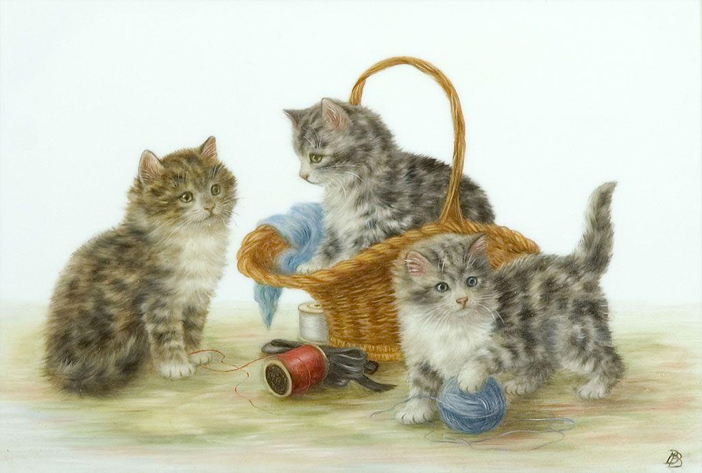 это картинка кошка с котятами по ушаковой кипения