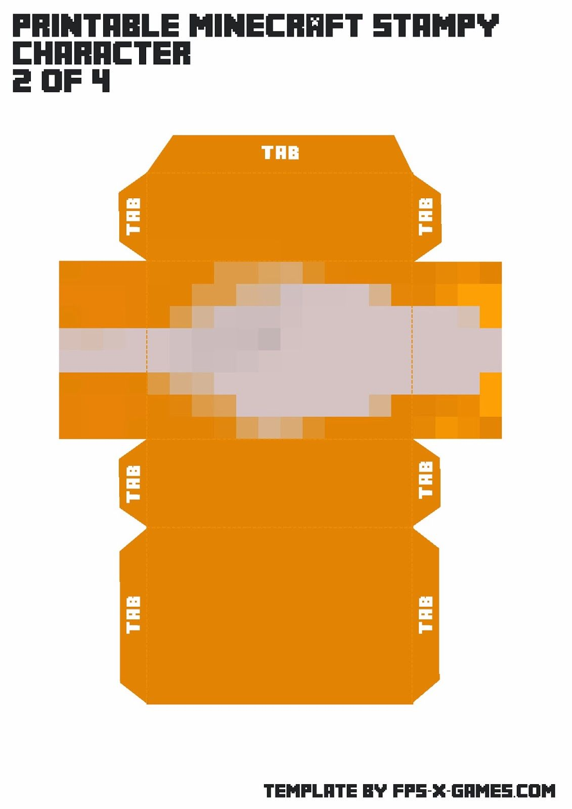 Printable Minecraft Stampy Character 4of4 Minecraft
